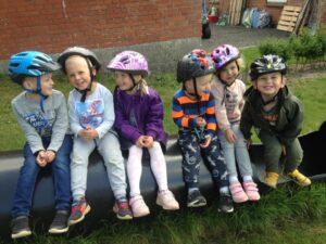 Børnehavebørn i Børnehuset Tusindfryd i Fasterholt